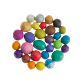 Plasticine colorful balls Royalty Free Stock Photography