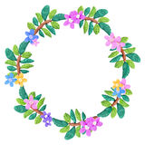 Plasticine  colorful floral frame sculpture isolated on white Royalty Free Stock Photo
