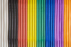 Plasticine - colori del Rainbow Fotografia Stock