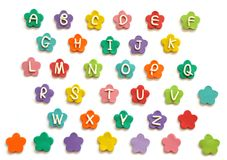 Plasticine cute alphabet Stock Images