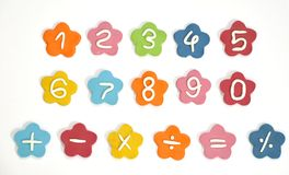 Plasticine cute number Stock Photos