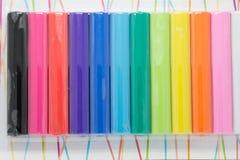 Plasticine de Colorfull nuevo en paquete Fotos de archivo libres de regalías