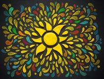 Plasticine decorative sun. Stock Photo