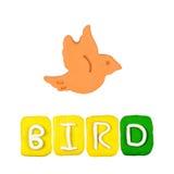 Plasticine der Vogel der Farbkinder lizenzfreies stockbild