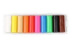 Plasticine di colore Fotografia Stock