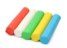 Plasticine di colore Immagini Stock Libere da Diritti