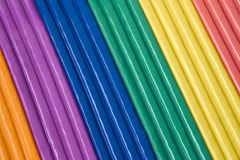 Plasticine - diagonale Farben Stockbilder