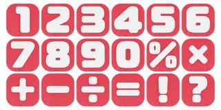 Plasticine digits Stock Photos