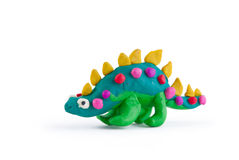 Plasticine dinosaur Royalty Free Stock Photo