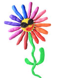Plasticine disco flower. On a white background Royalty Free Stock Image