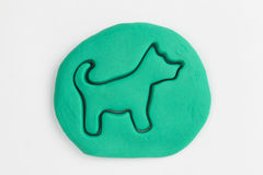 Plasticine dog. Royalty Free Stock Photo