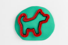 Plasticine dog. Stock Image