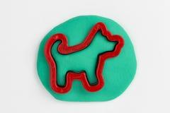 Plasticine dog. Stock Image