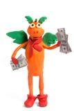 Plasticine dragon Royalty Free Stock Photos