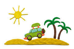 Plasticine Dream Of A Vacation Royalty Free Stock Images
