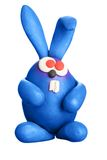 Plasticine easter rabbit Stock Photography