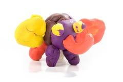 Plasticine Elephant Royalty Free Stock Photography
