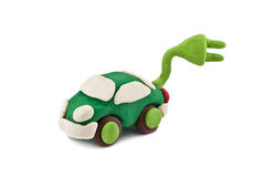 Plasticine environmentally friendly car Stock Images