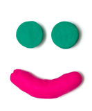 Plasticine face Royalty Free Stock Image