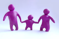 Plasticine family Stock Photography