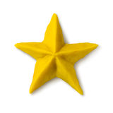 Plasticine figure of Christmas star Stock Images