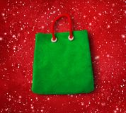 Plasticine figure of green shopping bag Royalty Free Stock Image