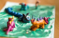 Plasticine Figures Royalty Free Stock Photography