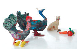 Plasticine figurine Royalty Free Stock Image