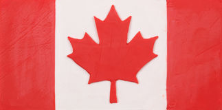 Plasticine flag of Canada Stock Photography
