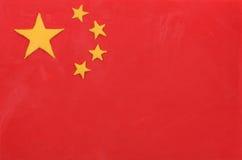 Plasticine flag of China Stock Photo