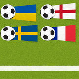 Plasticine flag football soccer Royalty Free Stock Photography