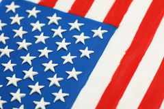 Plasticine flag of the USA Stock Photography
