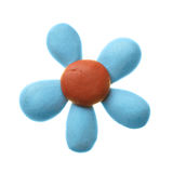 Plasticine flower Royalty Free Stock Image