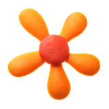 Plasticine flower Royalty Free Stock Images