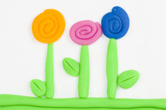 Plasticine flower. Royalty Free Stock Photography