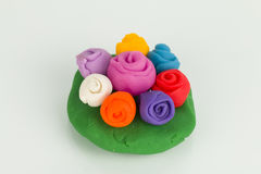 Plasticine flower. Royalty Free Stock Photo