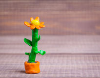 Plasticine flower Stock Photo