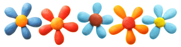 Plasticine flowers Royalty Free Stock Photography