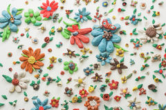 Plasticine Flowers Stock Photography