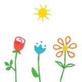 Plasticine flowers Royalty Free Stock Image