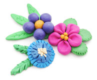 Plasticine flowers. Stock Photos