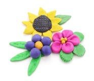 Plasticine flowers. Royalty Free Stock Image