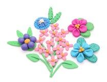 Plasticine flowers. Stock Photography
