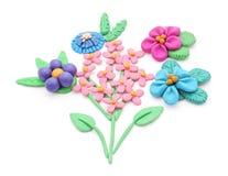 Plasticine flowers. Royalty Free Stock Photo
