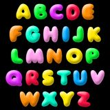 Plasticine font Royalty Free Stock Image