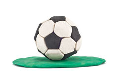 Plasticine football Royalty Free Stock Photo
