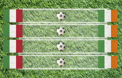 Plasticine Football flag Royalty Free Stock Photo