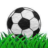 Plasticine Football on grass Stock Photos