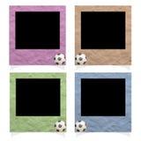 Plasticine football Stick Stock Photo
