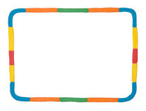 Plasticine frame Royalty Free Stock Photo